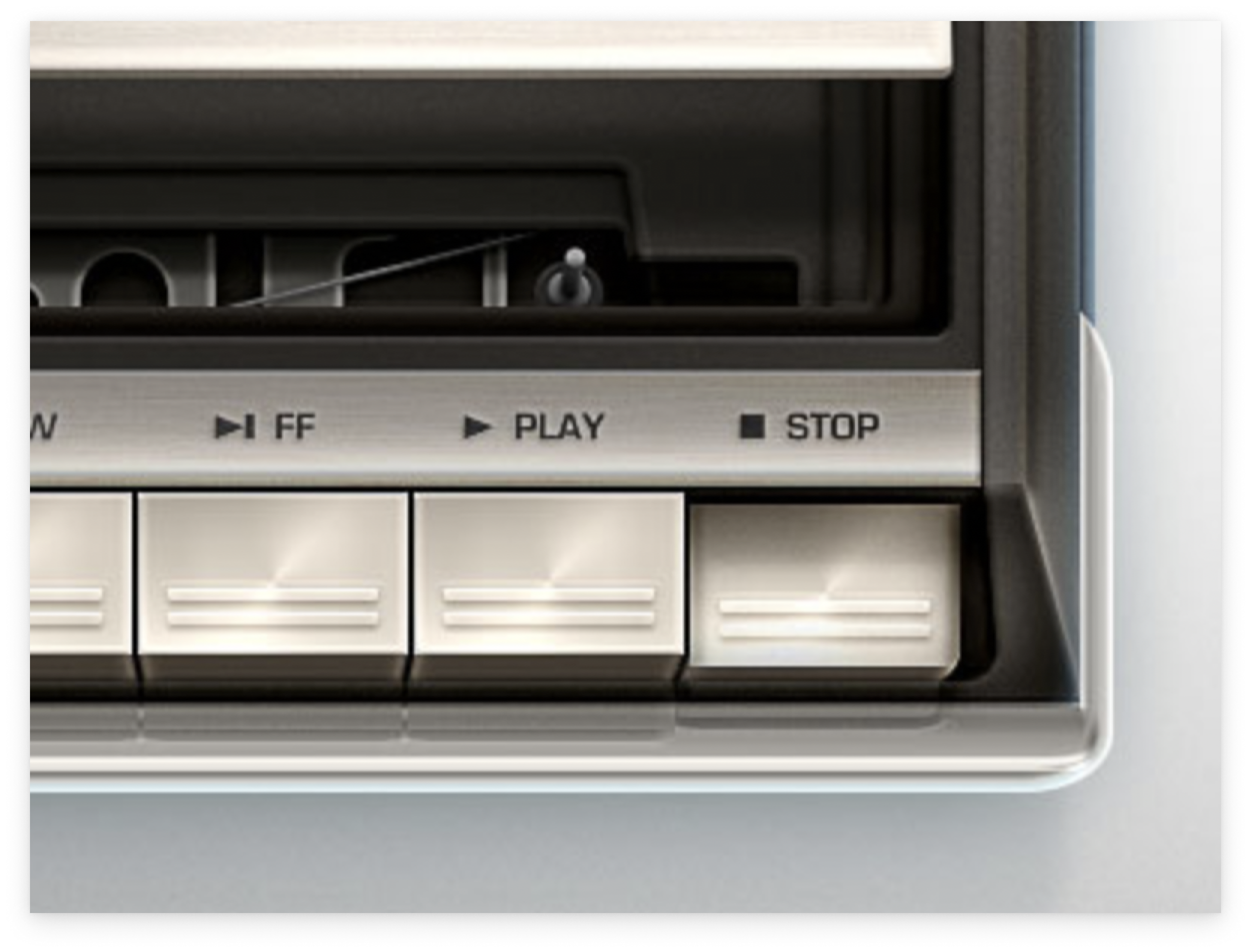 A cassette tape player