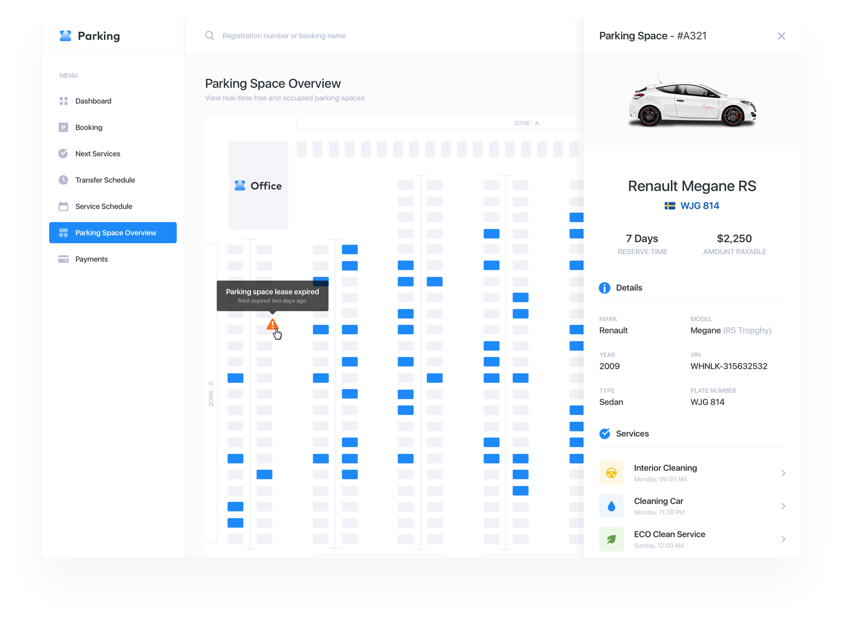 UI / UX Case: Automation of Airport Parking