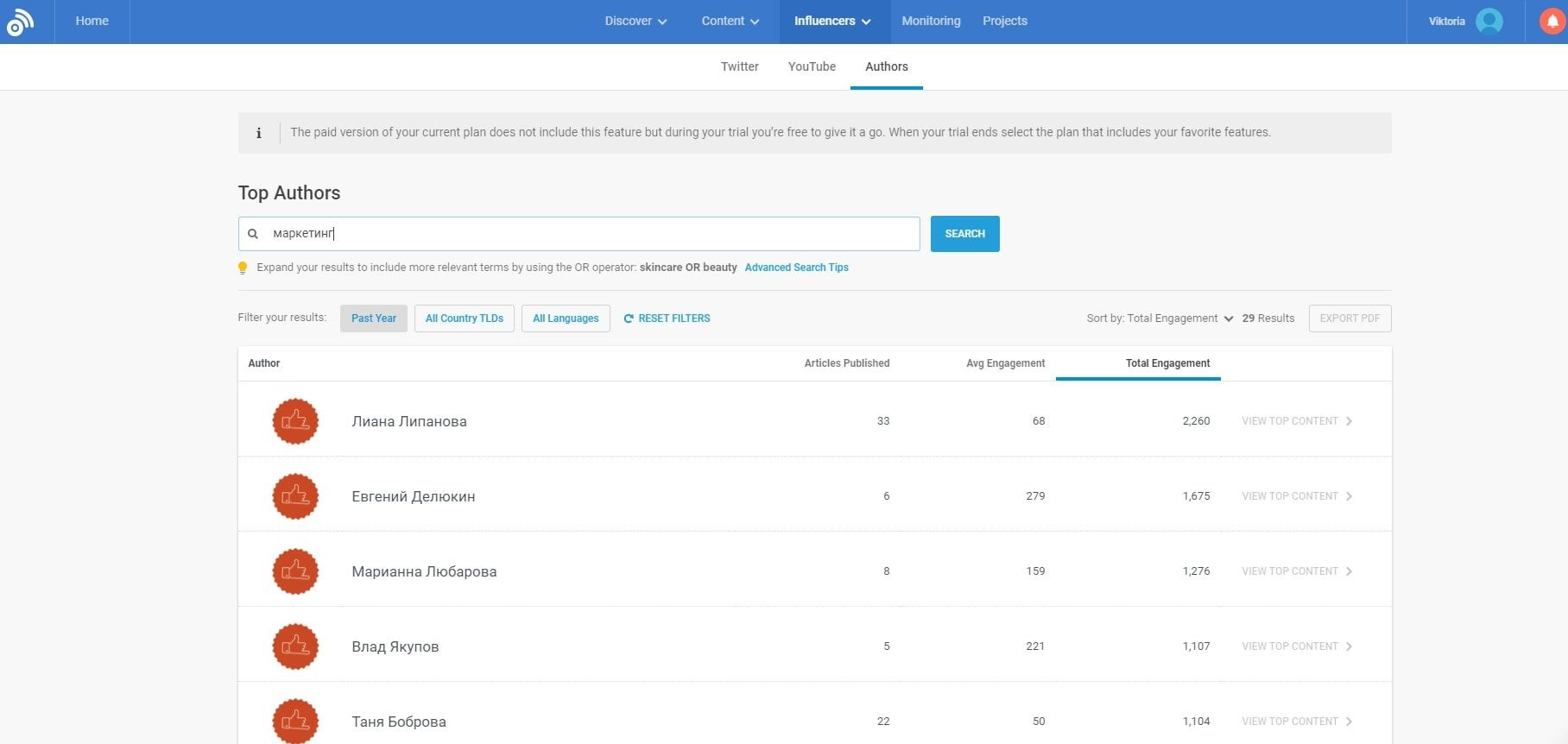 Finding the best authors from niche blogs is easy with BuzzSumo