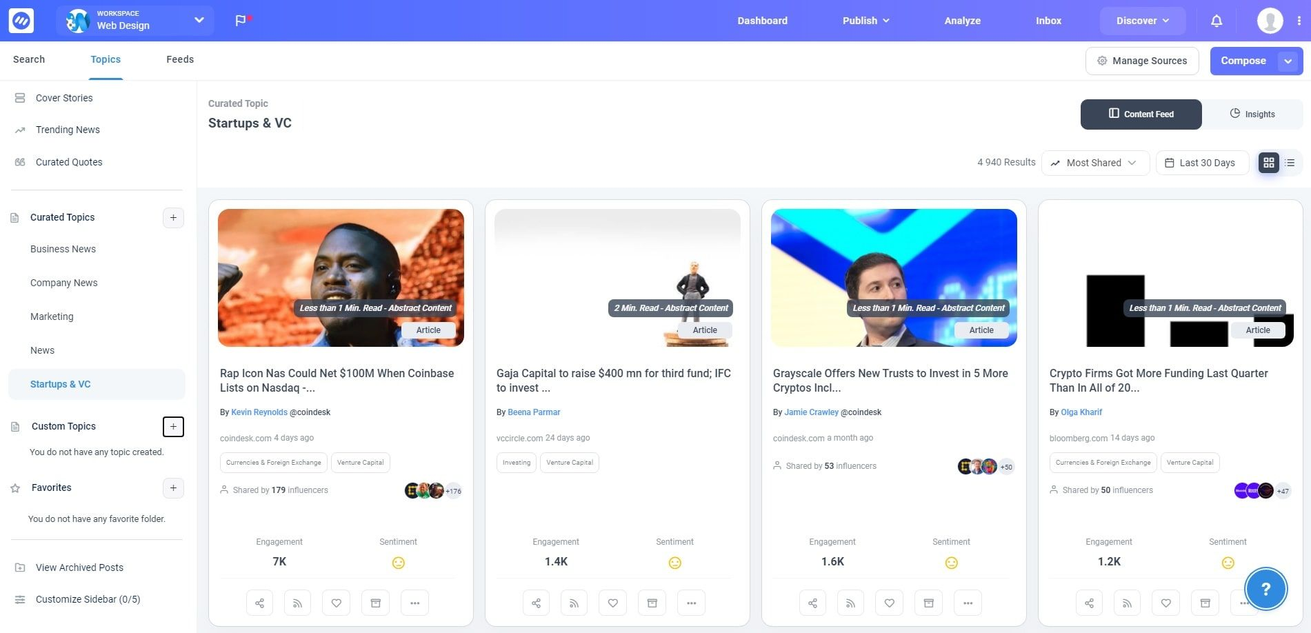 Explore the latest news and plan your social media content with ContentStudio